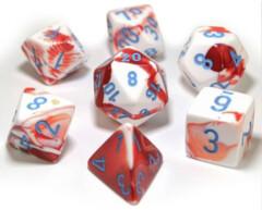 Gemini Red-White/blue 7-Die Set Lab Dice