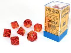 Gemini Translucent Red-Yellow/Gold 7-Die Set Lab Dice