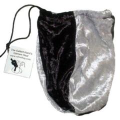 Dice Bag: Black & Silver Velvet