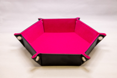 Best Dice Tray - Hex: Black W\Pink