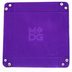 Velvet Folding Dice Tray Purple