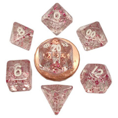 Mini Dice Ethereal Light Purple W/white 7-Die Set