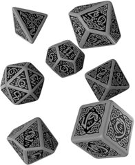 Celtic Dice 3D Grey/Black 7-Die Set