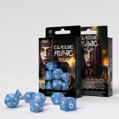 Classic Runic 7-Die Set: Glacier & White