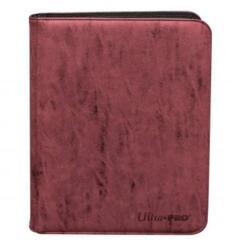 Ultra Pro 9 Pocket Suede Pro Binder: Ruby