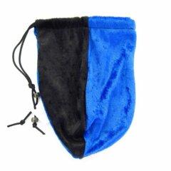 Dice Bag: Black & Blue Velvet