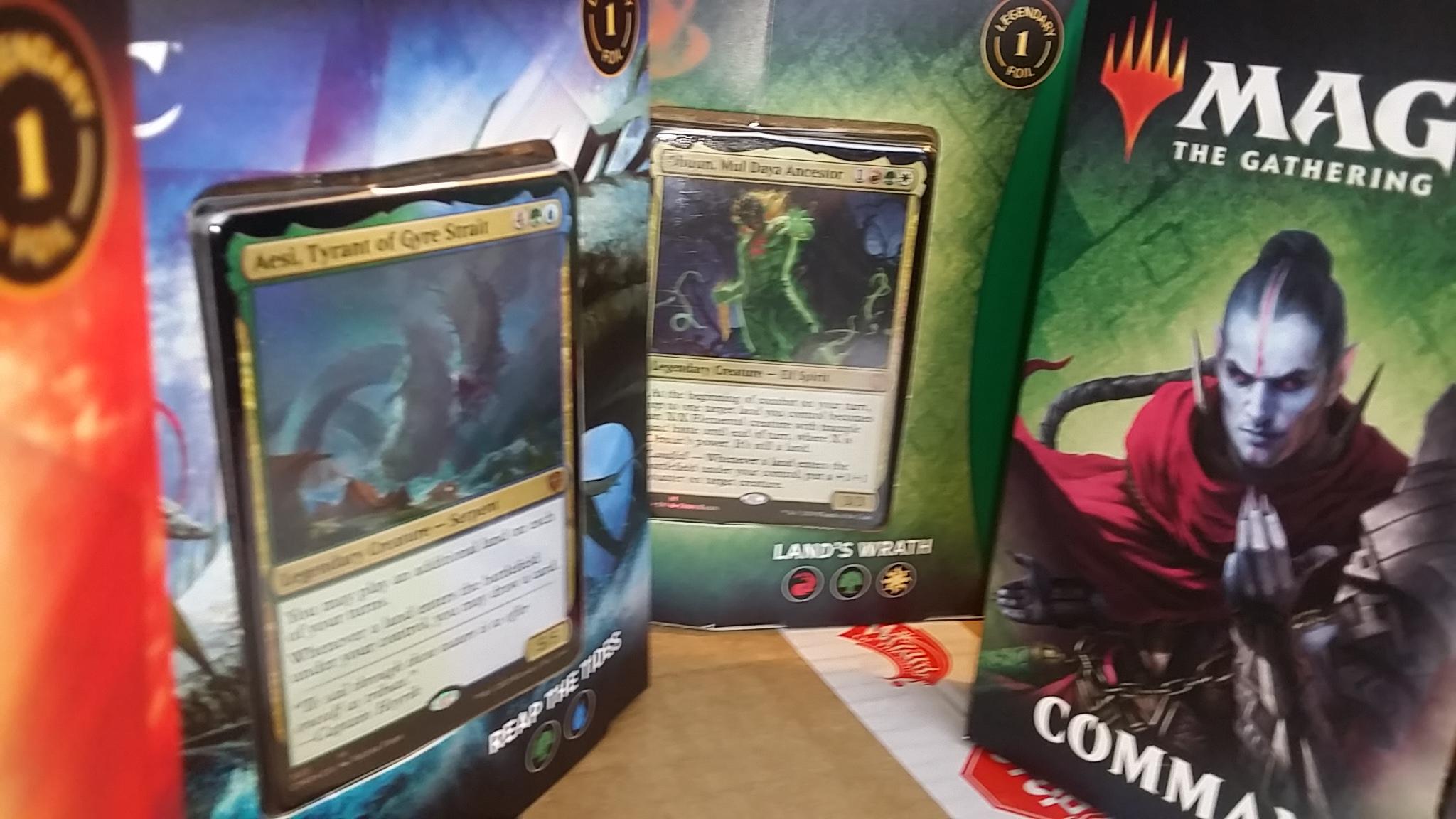 2 Zendikar Rising Commander Decks & 2 Commander Legends Decks