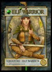 Elf Warrior Token 1/1 (f) - Jeff Laubenstein artist token