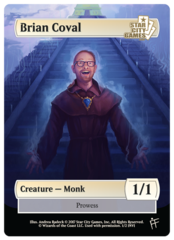 Brian Coval - Monk Token (1/1 Prowess) - SCG