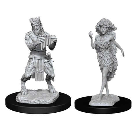 DUNGEONS AND DRAGONS: NOLZURS MARVELOUS UNPAINTED MINIATURES -W11-SATYR AND DRYAD