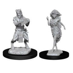 DUNGEONS AND DRAGONS: NOLZUR'S MARVELOUS UNPAINTED MINIATURES -W11-SATYR AND DRYAD
