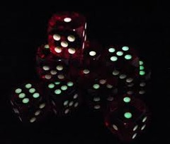 Koplow Glow in the Dark Pips  red 12 d6