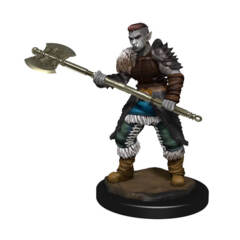 DUNGEONS AND DRAGONS NOLZUR'S MARVELOUS MINIATURES: W13 FEMALE ORC BARBARIAN