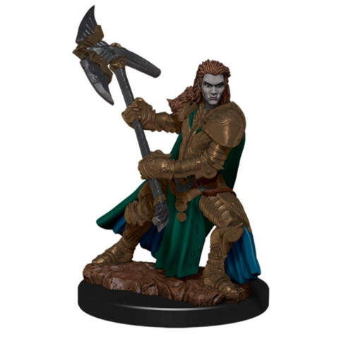 DUNGEONS AND DRAGONS: ICONS OF THE REALM PREMIUM FIGURE (WAVE 4): FEMALE HALF-ORC FIGHTER