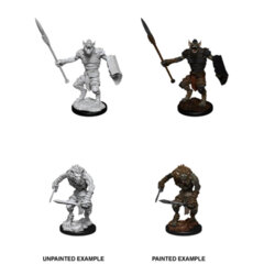 DUNGEONS AND DRAGONS: NOLZUR'S MARVELOUS UNPAINTED MINIATURES: W12 GNOLL AND GNOLL FLESH GNAWER