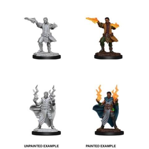 DUNGEONS AND DRAGONS: NOLZURS MARVELOUS UNPAINTED MINIATURES: W12 MALE HUMAN SORCERER