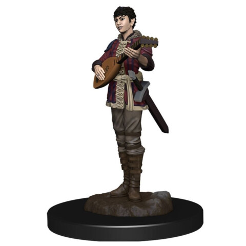 DUNGEONS AND DRAGONS: ICONS OF THE REALM PREMIUM FIGURE (WAVE 4): FEMALE HALF-ELF BARD