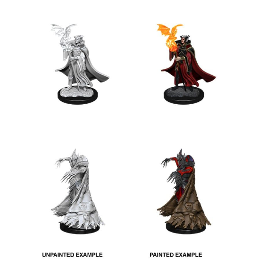 PATHFINDER: DEEPCUTS UNPAINTED MINIATURES: W12 CULTIST AND DEVIL