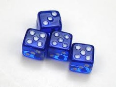 Koplow Glow in the Dark Pips  Blue 12 d6