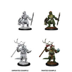 DUNGEONS AND DRAGONS: NOLZUR'S MARVELOUS UNPAINTED MINIATURES: W12 LIZARDFOLK AND LIZARDFOLK SHAMAN
