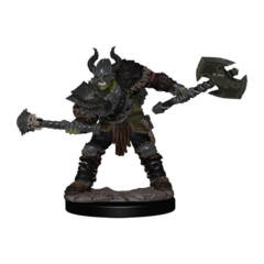 PATHFINDER BATTLES: PREMIUM PAINTED FIGURE: HALF-ORC BARBARIAN MALE