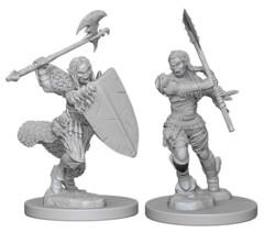 Female Half-Orc Barbarian DC W1
