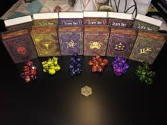 Elder Dice - Green Lovecraft Elder Sign Polyhedral Set