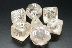 Old School RPG Dice Set Particles: Red Ice