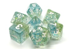 Old School RPG Dice Set Particles: Coral Reed