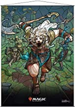 Ajani Stained Glass Wall Scroll