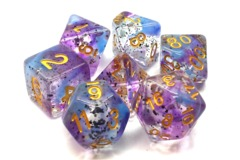 Old School RPG Dice Set Particles: Volcanic Lightning