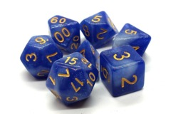 Old School RPG Dice Set: Galaxy Blue and White