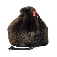 Brown Bear Fur Dice Bag by Redking