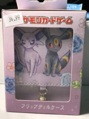 Pokemon Center Leather Espeon & Umbreon Deck Box