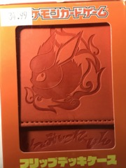 Pokemon Center Leather Flareon Deck Box