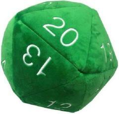 Plush: Jumbo d20 Green/White Dice