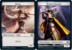Angel // Human Soldier Double-sided Token - Foil