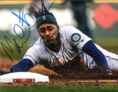 Mallex Smith Seattle Mariners Signed 8x10 Photo C Stealing Zoomed In