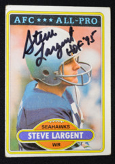 Steve Largent Signed 1980 Topps w/ Inscription