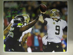 Cliff Avril  Seahawks Autographed  16x20 Photo C
