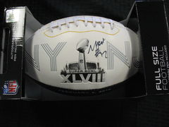 Michael Bennett Seahawks Autographed Super Bowl XLVIII Football