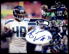 Derrick Coleman Seahawks Autographed  8x10 Photo Collage With JSA COA 16