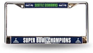 Seattle Seahawks Championship Chrome License-Plate Frame