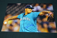 Taijuan Walker Signed 12x18 Photo #1