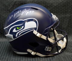 Jarran Reed Seattle Seahawks Full Size Replica Speed Helmet w/insc 2016 Rookie JSA