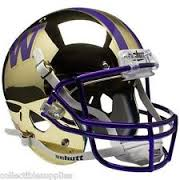 University of Washington UW Huskies Gold Mirror Mini Helmet unsigned