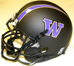 University of Washington UW Huskies Matte Black Mini Helmet unsigned