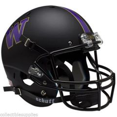 University of Washington UW Huskies Matte Black Full Size Replica Helmet unsigned