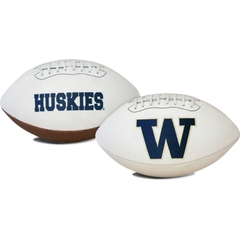 University of Washington UW Huskies White Panel Logo Football unsigned