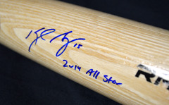 Kyle Seager Signed Bat Rawlings Pro Blonde w/Inscription Mariners JSA WPP